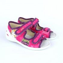 Детские текстильные туфли тапочки для девочки Ромашки тм Waldi