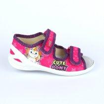 Детские текстильные сандалии тапочки для девочки Единорожки тм Waldi