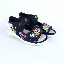 Детские текстильные сандалии тапочки девочке Єва синие тм Waldi