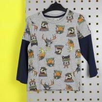 Детская кофта с принтом Животные серая тм GLO-STORY
