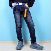 Детские джинсы для мальчика с пояском тм S&D Jeans