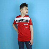 Детская футболка с капюшоном для мальчика красная тм Seagull