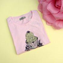 Детская футболка для девочки Капкейк розовая тм Glo-Story