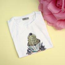 Детская футболка для девочки Капкейк белая тм Glo-Story