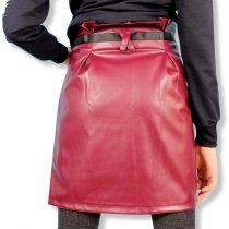 Кожаная юбка для девочки карандаш с карманами