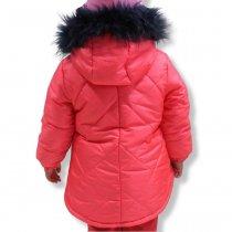 Зимняя курточка на девочку Коралл