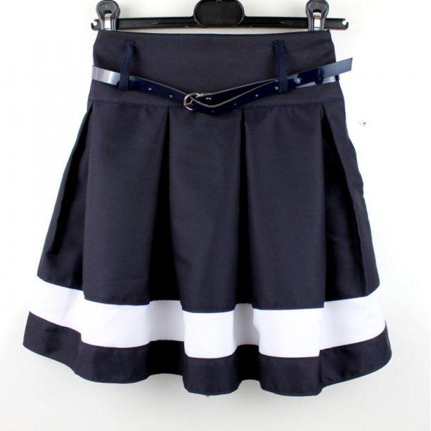 Юбка школьная синяя Корнелия тм Vdags
