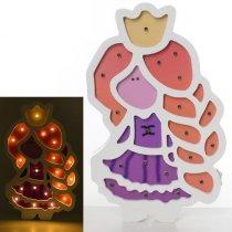 Деревянная игрушка Ночник MD 2156  принцесса, 27,5-17см, свет, на бат-ке,в кор-ке, 26-31-3,5с KMMD2156