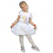 Кружевная юбка для девочки на резинке белая тм S&D