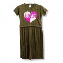 Нарядное платье для девочки пайетки перевертыши