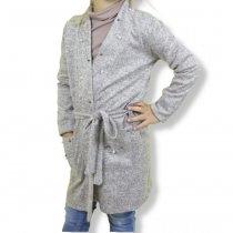 Кардиган с поясом девочке Бежевый производитель Украина