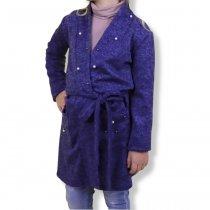 Кардиган с поясом девочке Синий производитель Украина