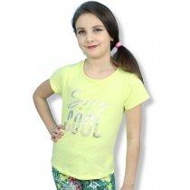Детская футболка для девочки Cool желтая тм Glo-Story