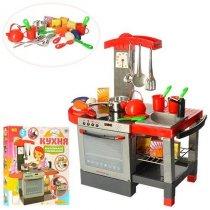 Игровая Кухня плита, духовка, мойка, 60-58,5-31,5 см, посуда, музыка, свет, коробка 60-54-10 см KM011
