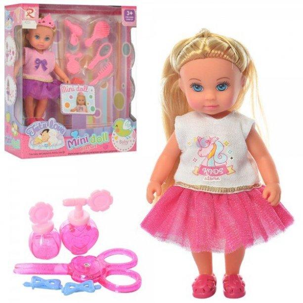Кукла 13,5см, аксессуары, в коробке, 16,5-19,5-6см, для детей