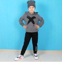 Детский костюм на мальчика X серый тм Benini