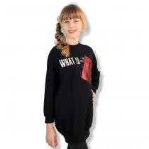 Детская свитшот-туника девочке с блястящим карманом тм Viollen