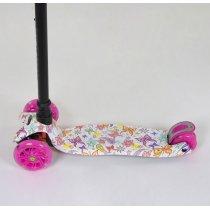 Детский Самокат Бабочки Best Scooter MAXI для девочки