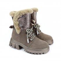 Зимние кожаные ботинки для девочки тм Bi&Ki