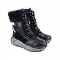 Черные кожаные ботинки для девочки тм Bi&Ki