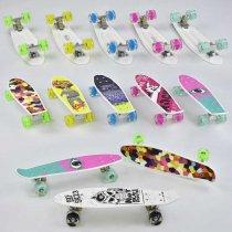 Скейт Пенни борд Best Board, 6 видов, колёса PU, СВЕТЯТСЯ, d=4,5 см, доска=55 см