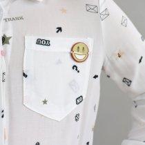 Блуза белая длинный рукав Жатка тм Mevis