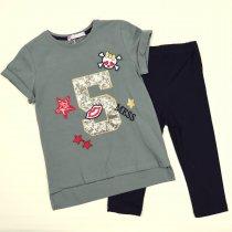 Летний детский костюм девочке футболка бриджи