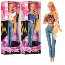 Игрушка Кукла в джинсах Defa 29 см, в коробке, 11-31-5 см