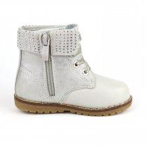 Демисезонные ботинки для девочки стразы тм Bi&Ki на шнурках