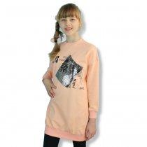 Детская свитшот туника для девочки с блястящим карманом тм Viollen