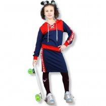 Детский костюм девочке кофта с юбкой лампасы тм Toontoy
