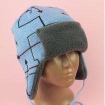 Шапка-шлем для мальчика ТомС-2 голубой тм Babasik