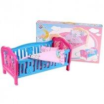 Игрушка Кроватка для куклы с постелью тм Технок KM4494