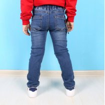 Детские джинсы для мальчика на резинке со значками тм Resser Denim