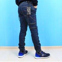 Детские джинсовые джоггеры на мальчика с накладными карманами тм Resser Denim