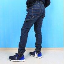 Детские джинсовые джоггеры мальчику с накладными карманами тм Resser Denim