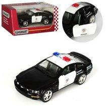 Машинка KINSMART инерционая FORD MUSTANG GT POLICE 2006: металическая, открываются двери, в коробке KMKT5091 WP