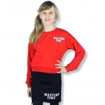 Детский костюм для девочки Wasting Time красный тм Toontoy