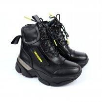 Кожаные зимние ботинки на шнурках для девочки тм Bi&Ki