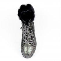 Зимние кожаные ботинки для девочки тм Bi&Ki с напылением