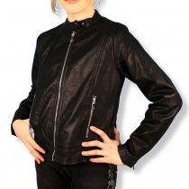 Детская куртка косуха для девочки Сердце черная тм S&D
