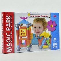 Игрушка Конструктор магнитный 50 элементов коробка 57х35,5х6 см