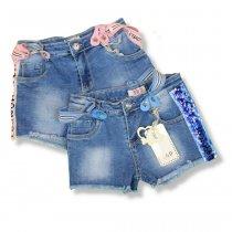 Джинсовые шорты для девочек на подтяжках