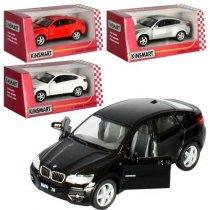 Модель машинка легковая игрушка 5 BMW X6 металл, инерция, открываются двери, 1:38 KMKT5336W