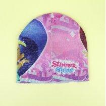 Демисезонная шапка для девочки Шиммер и Шайн люрекс тм Cerda размер 50-52