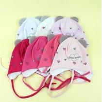 Детская шапочка с ушками девочке Little Queen р.46-48