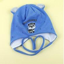 Детская шапочка с ушками Медвежонок р.46-48