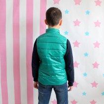 Детская куртка жилетка безрукавка зеленая тм Alfonso