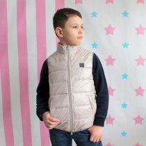 Детская куртка - жилетка безрукавка бежевая тм Alfonso