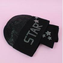 Комплект демисезонный шапка и снуд STAR для девочки тм Nikola